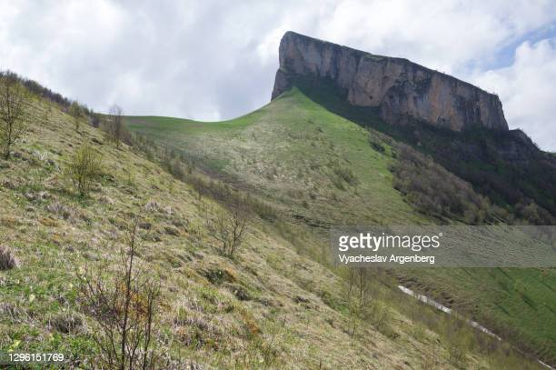 panoramic view of maly tkhach, caucasus mountains - argenberg stock pictures, royalty-free photos & images