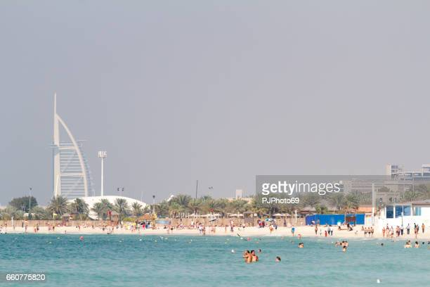 Panoramic view of Marina Beach in Dubai