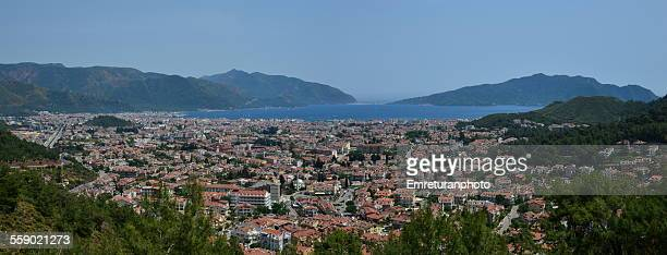 panoramic view of marmaris - emreturanphoto stock pictures, royalty-free photos & images