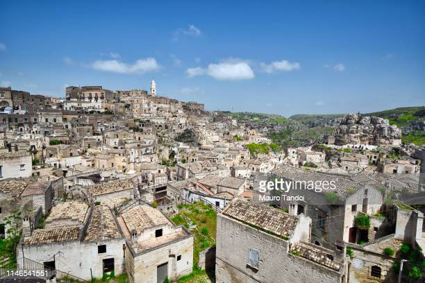 panoramic view of matera, basilicata, italy - mauro tandoi stock pictures, royalty-free photos & images