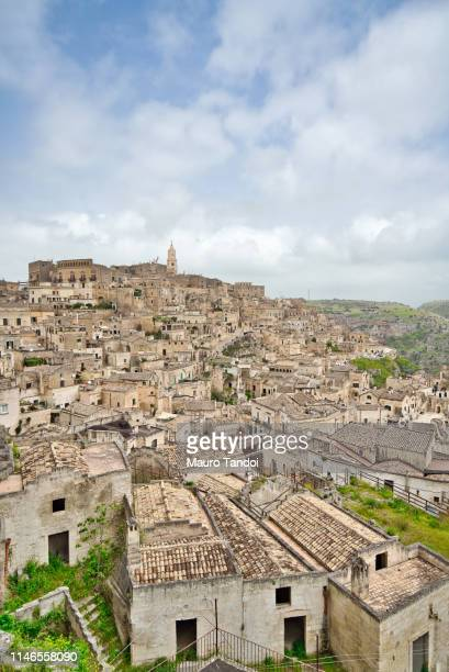 panoramic view of matera, basilicata, italy - mauro tandoi stock photos and pictures