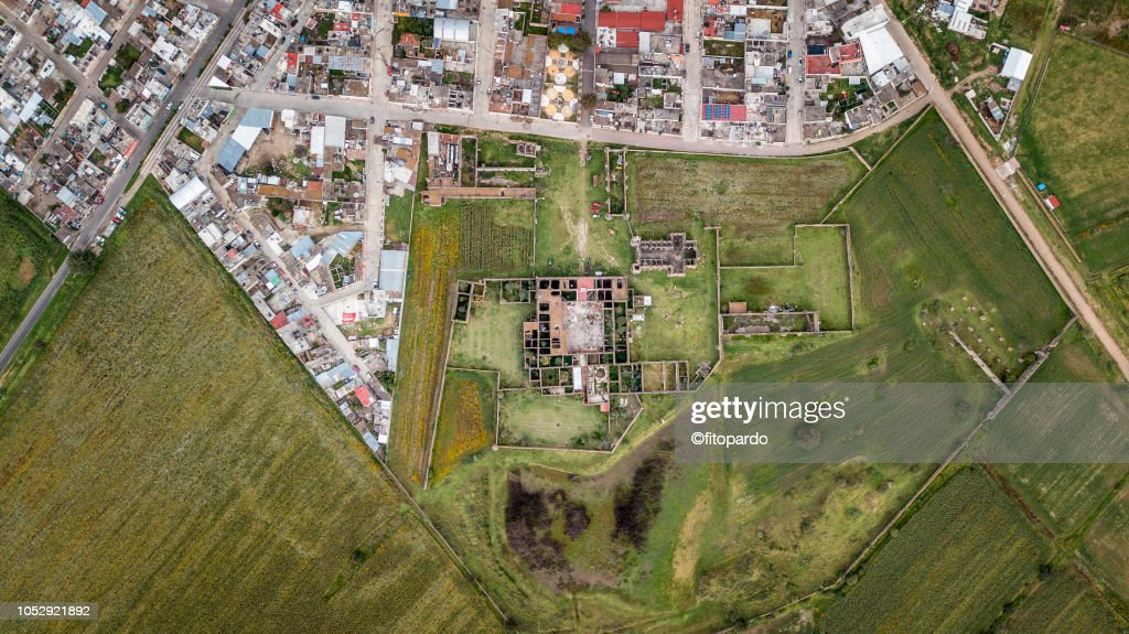 Panoramic view of Mazapa town : Stock-Foto