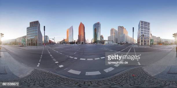 360° Panoramic View of Modern Architecture at Potsdam Square