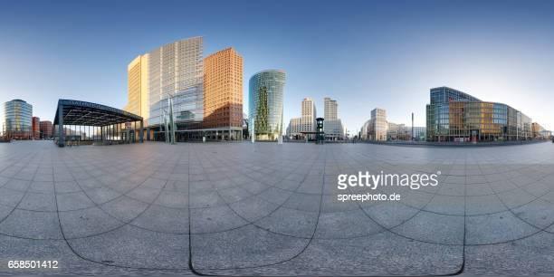 360° Panoramic View of Modern Architecture at Potsdamer Platz