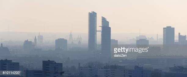 Panoramic view of modern Munich cityscape