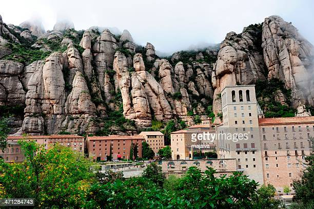 Panoramic view of Monserrat Monastery