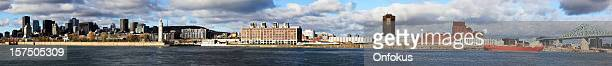 Panoramic View of Montreal Cityscape From Downtown to Jacques-Cartier Bridge