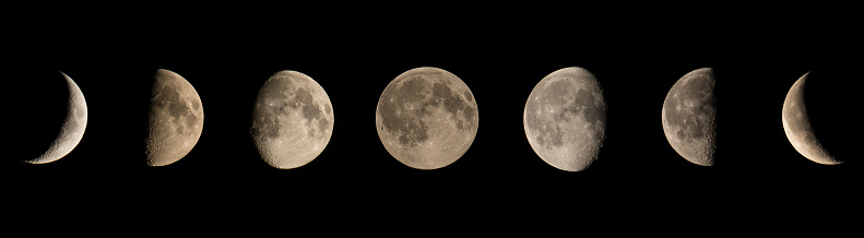 Panoramic View Of Moon In Clear Sky - gettyimageskorea