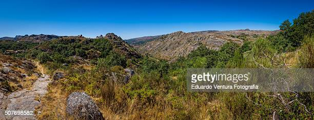 Panoramic view of mountainous region of Peneda-Gerês National Park, PORTUGAL