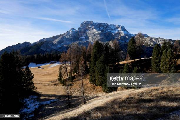panoramic view of mountains against blue sky - mertens stock pictures, royalty-free photos & images