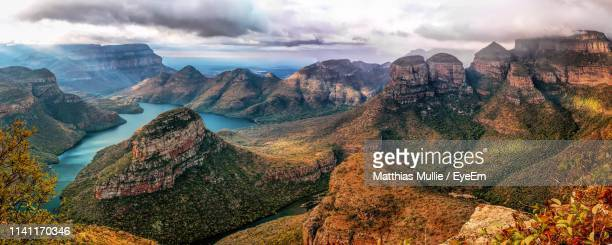 panoramic view of mountains against cloudy sky - limpopo province stock pictures, royalty-free photos & images