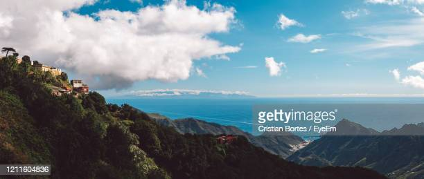 panoramic view of mountains against sky - bortes stock pictures, royalty-free photos & images