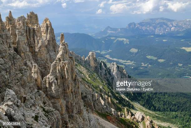 panoramic view of mountains against sky - marek stefunko stock photos and pictures