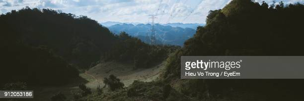 panoramic view of mountains against sky - son la stock pictures, royalty-free photos & images