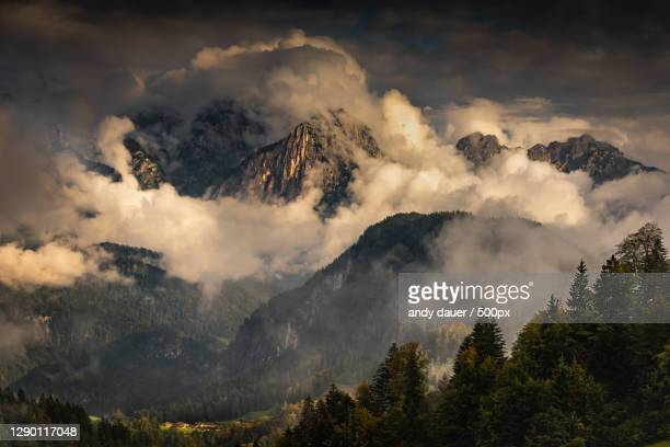 panoramic view of mountains against sky,unken,austria - andy dauer stock pictures, royalty-free photos & images