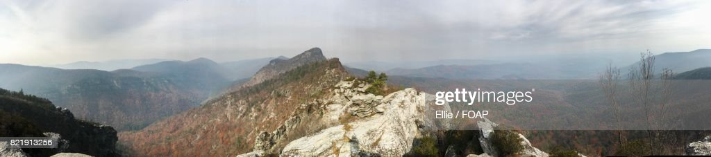 Panoramic view of mountains : Stock Photo
