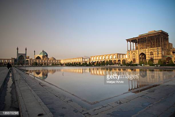 Panoramic view of Naghsh-i Jahan Square on June 25, 2008 in Isfahan, Iran.