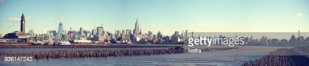 A panoramic view of New York from New Jersey.