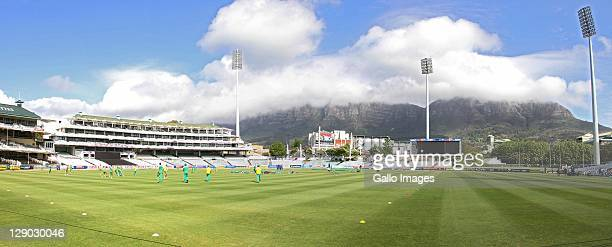 AFRICA OCTOBER 11 A panoramic view of Newlands grounds during the South African national cricket team training session at Sahara Park Newlands on...