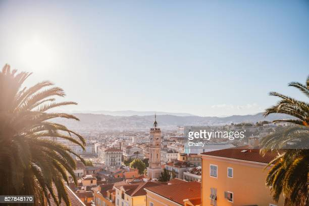 panoramic view of nice - france stock pictures, royalty-free photos & images