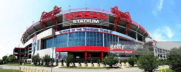 Panoramic view of Nissan Stadium, home of the Tennessee Titans football team in Nashville, Tennessee on May 27, 2016.
