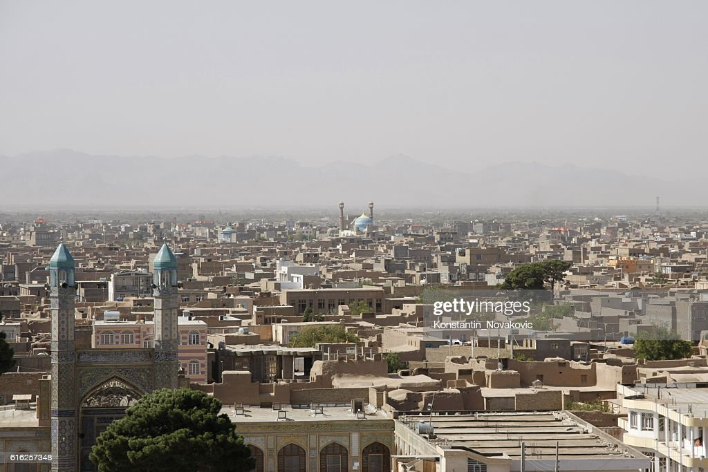 Panoramic view of Old Herat, Afghanistan : Foto de stock