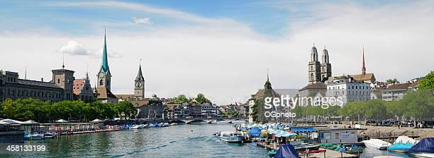 XXXL: Panoramic view of old town part Zurich, Switzerland.
