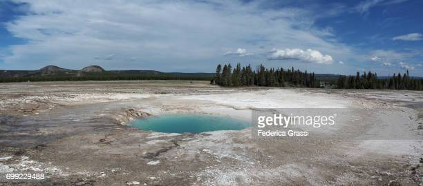 Panoramic View of Opal Pool, Yellowstone National Park