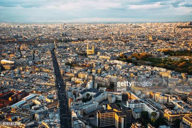 Vue panoramique de la ville de Paris