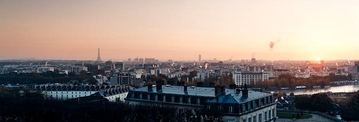 Panoramic view of Paris skyline with Eiffel Tower - gettyimageskorea