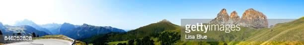 Panoramablick über Passo Sella, Dolomiten Alpen Italien