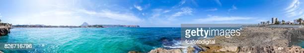 Panoramic view of Playa El Arenal, Javea-España