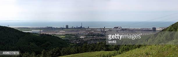 Panoramablick von Port Talbot EINES STAHLWERKES