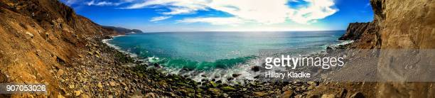 Panoramic view of private beach