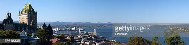 Vista panorâmica da Cidade de Quebec durante o Verão