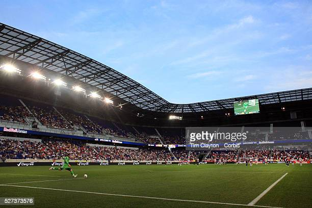 A panoramic view of Red Bull Arena during the New York Red Bulls V Chivas USA Major League Soccer match at Red Bull Arena Harrison New Jersey 23rd...