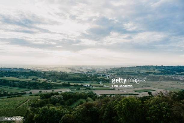 panoramic view of rhine plain in southern germany - baden württemberg stock pictures, royalty-free photos & images