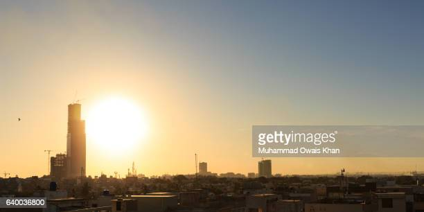 Panoramic View of Rising Karachi