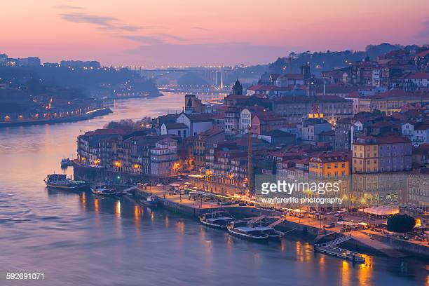 Panoramic view of River Douro at sunset