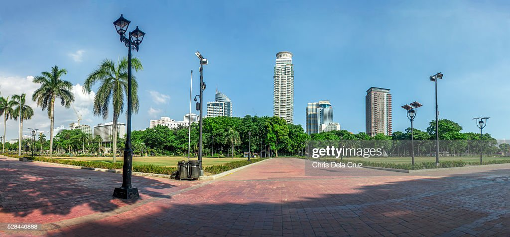Panoramic view of Rizal Park : Stock Photo
