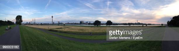panoramic view of road in city against sky - mertens stock pictures, royalty-free photos & images