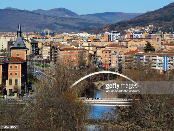 panoramic view of rochapea (iruña) - pamplona stock pictures, royalty-free photos & images
