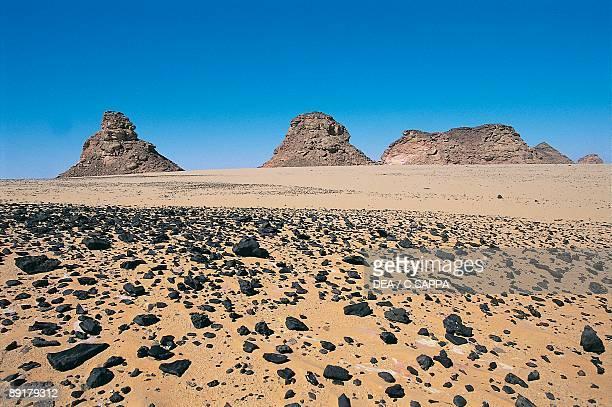 Panoramic view of rock formations in the desert Libyan Desert Sahara Desert Egypt