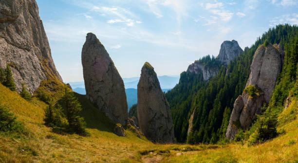 Panoramic View Of Rocks And Trees Against Sky, Taca, Romania