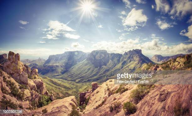 panoramic view of rocky mountains against sky - texas photos et images de collection
