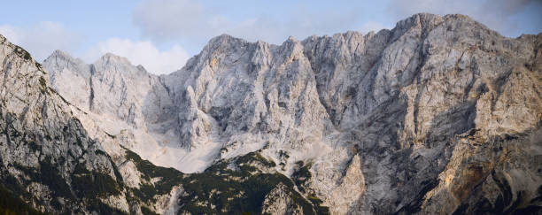 Panoramic view of rocky mountains against sky,Zagorje ob Savi,Slovenia