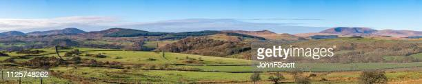 panoramic view of rural scotland - galloway scotland stock pictures, royalty-free photos & images