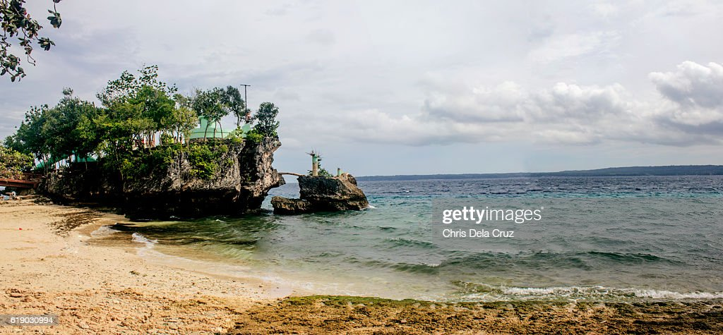 Panoramic view of Salagdoong Beach : Stock Photo