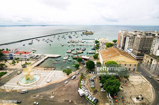 Panoramic view of Salvador de Bah��a. Mercado Modelo