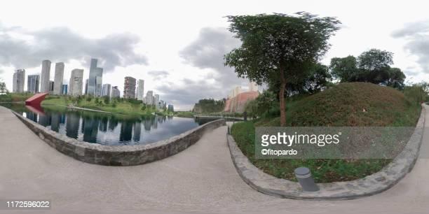 360° panoramic view of santa fe mexico city - hdri 360 ストックフォトと画像